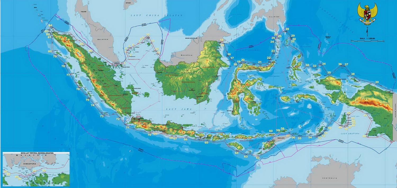 peta indonesia bagus besar